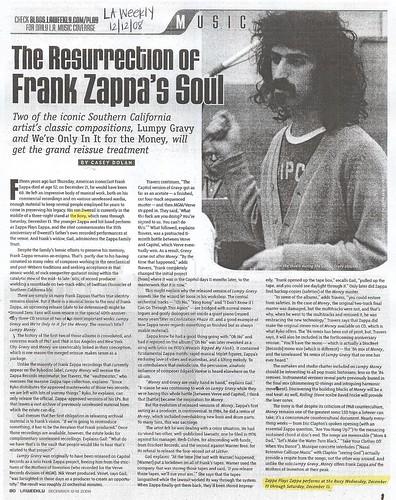 LA WEEKLY 12.12.08 - Zappa