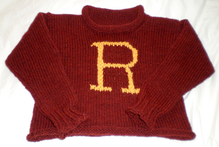 Knitting Pattern For Weasley Sweater : yoelknits: FO: Harry Potter sweater