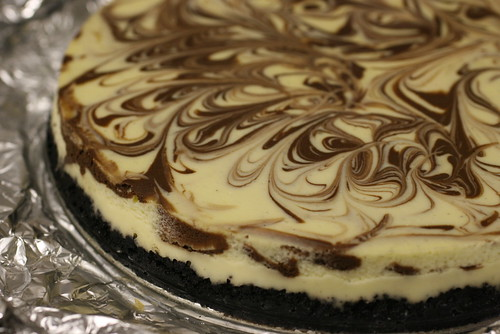 Vanilla-Chocolate Swirl Cheesecake 6