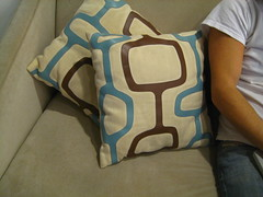 Leather Trimmed Pillow Pair
