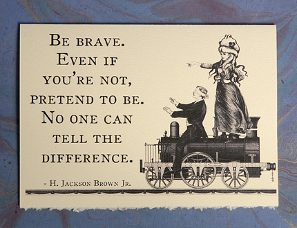 Brave - Victorian Mashup Card