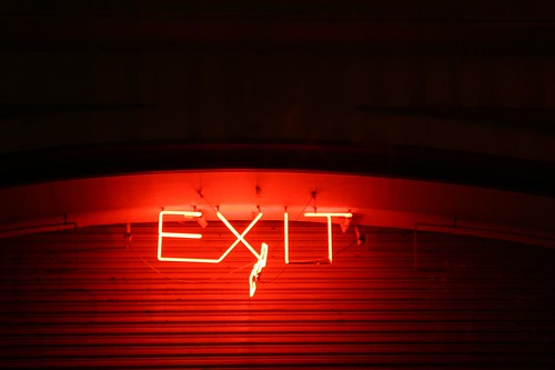 Palace Hotel Parking Exit Neon by ericheath, on Flickr