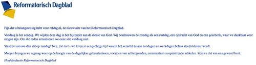 Reformatorisch Dagblad - Internet Editie