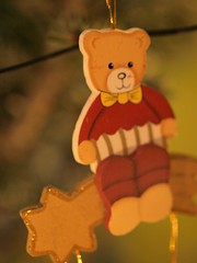 Teddybear am Tannennbaum