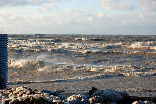 the angry sea I