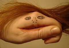Talk to the Hand! (Acie Creations) Tags: hair hand redhead redhair talktothehand fgr 149365 clemsaknob acwmaiden faceonhand trialsmellslikebologna drawingonhand