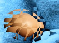 Blue egg (JMVerco) Tags: photomanipulation egg digitalart creative oeuf uovo création creazione awardtree creattività jmlinder