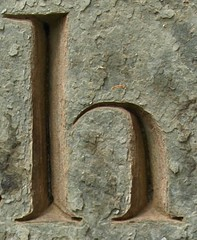 h (chrisinplymouth) Tags: letter churchyard gravestone tombstone cemetery alphabet oneletter headstone graveyard lowercase h cw69x cw69az letterh