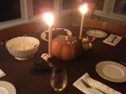 Dinner in College Park ―it was lovely. 🎃 🔥