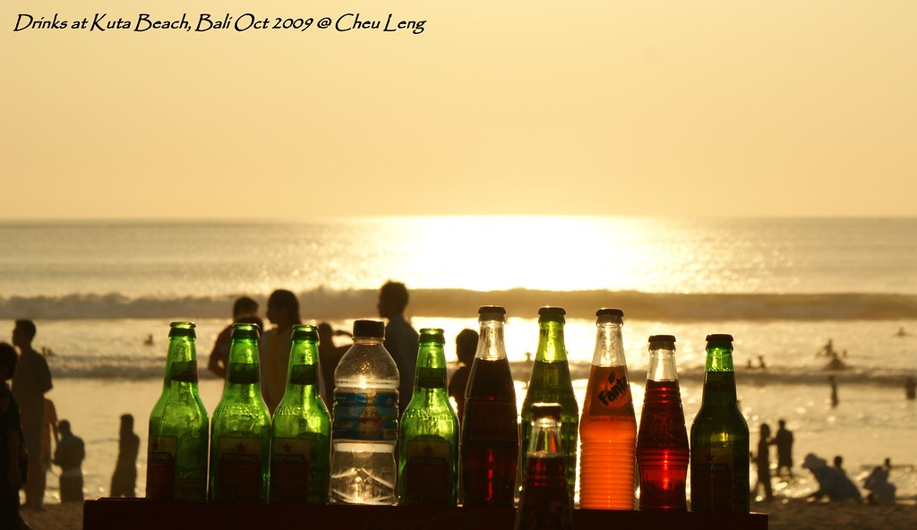 Drinks at Kuta Beach, Bali