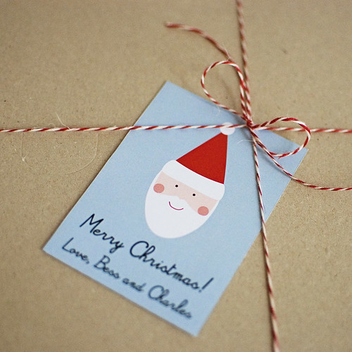Printable Custom Santa Gift Tags and Cards