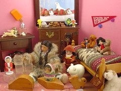 She Plays with her Dolls (raining rita) Tags: dog snow ice toys kayak dolls helen kish inuit whale icicles americangirl dogsled russiannestingdoll girlsofmanylands