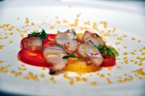 Green Lip Abalone Heirloom Tomato & Bottarga