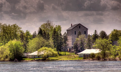 Brewery HDR (le cabri) Tags: old building tree green water stone island ottawa brewery hdr genuine