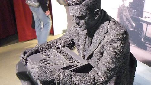 Slate Sculpture of Alan Turing