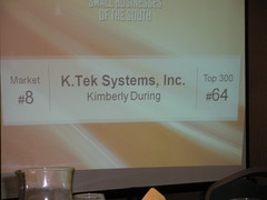 Top 300 Businesses of the South Award - 2011 Ranking (K.Tek Systems Inc.) Tags: top300 businessleadermedia kimberlyduring top300businessesofthesouth