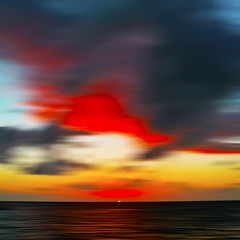 SmallSun (CoolorFoto) Tags: ocean sunset 2 sky sun blur water clouds explore bigsky hss explored smallsun blurredsky sliderssunday