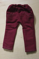 Crimson Stained Pants (C r y s t a l H e a r t) Tags: pink red thread girl silver skinny rainbow doll pants alt unique sewing acid bleach sew jeans american ag moonlight custom bleached alternative pockets sewn ooc skinnies