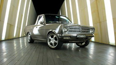 datsun 1200 ute (tommycorra) Tags: up grey nice paint wheels engine fast utility ute chrome 1200 done speedy mags lowered dats datsun dato a15 digitalcameraclub sirroco