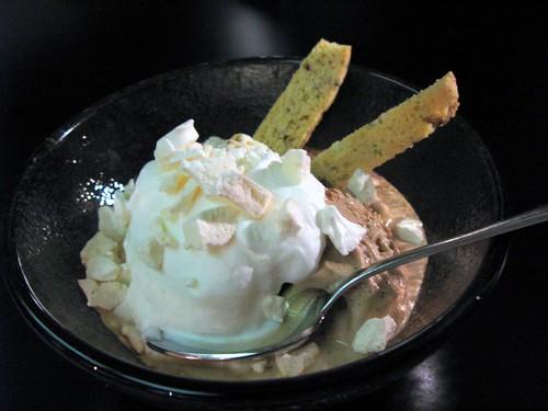 coffee ice cream sundae
