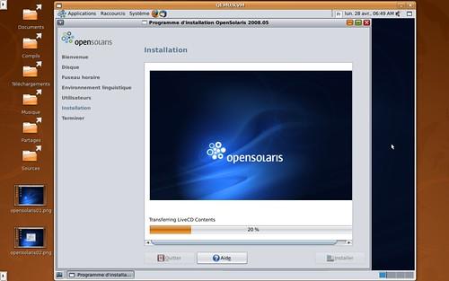 Installation d'OpenSolaris