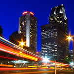The light trail in Montreal - Quebec