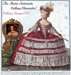 Marie Antoinette Collage Chronicles CD (Lisa Kettell) Tags: fashion vintage princess mixedmedia images romance queens collageart postcards royalty marieantoinette frenchqueen lisakettell