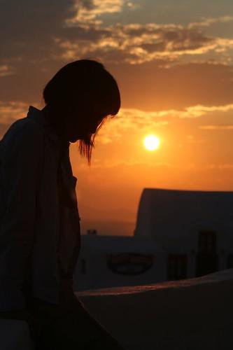 夕陽下的剪影