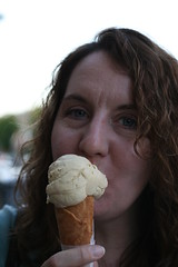 Diane at Ici Ice Cream (Elmwood/Berkeley)