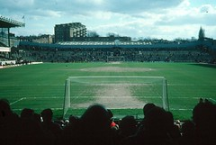 Highbury Home of Arsenal 1977 (Ventlindown) Tags: london clock photo football photos soccer south north bank ground slide photographs photograph end division transfer highbury premier arsenal league clockend copyrightstevefreightasphotographerauthorandowner phototakenbyandcopyrightstevefreight