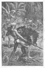 Orang utan attacks hunter