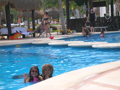 MBD and Thing 2 in the Mayan Palace Pool