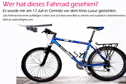 Gestohlenes Fahrrad (Chemnitz)