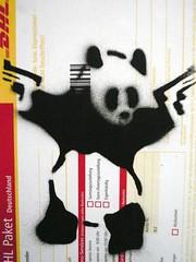 Kampfpanda (Konrad Lischka) Tags: stencil panda hamburg