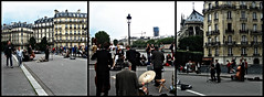 M-Triptych-V (saharsh) Tags: bridge people paris france art musicians triptych band culture jazz tych