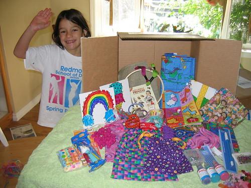 R sending stuff to her swap buddy Jemima
