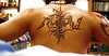 A picture of my back tattoo - An Ambigram of my own name and design ... Ambigrams are