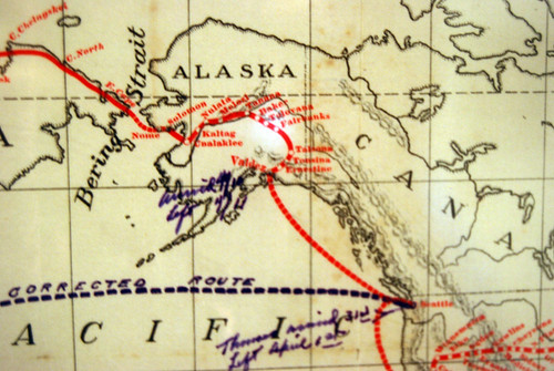 295-Thomas Flyer Alaska Map