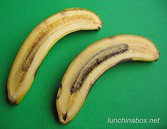 Microwave-ripened banana comparison