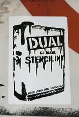 DUAL STENCIL INK (-Dons) Tags: usa streetart austin stencil sticker texas unitedstates tx dual
