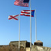 San Juan  Fort San Felipe del Morro  Flags  Puerto Rico