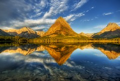 A Perfect Morning at Glacier National Park (Stuck in Customs) Tags: park travel blue panorama mountain mountains texture nature water colors beautiful lines clouds sunrise work reflections painting landscape photography nikon perfect melting montana colorful exposure shoot mood photographer shot searchthebest angle natural image photos magic details perspective picture surreal atmosphere symmetry lodge glacier adventure national edge pro glaciernationalpark capture tones hdr tutorial warming global globalwarming grinnell highquality travelphotography manyglacier manyglacierlodge hdrtutorial stuckincustoms mountgrinnell treyratcliff greengradation nomashroom