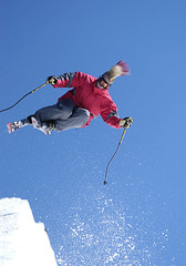 Glen Plake gettin' some air on K2 skis.