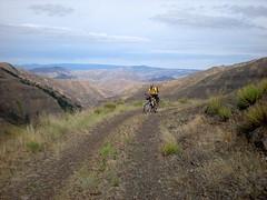 Cache Creek Mtn Bike Ride (Doug Goodenough) Tags: cache creek ranger station snake river canyon hells scott jen aug 2008 08 bicycle biking touring dirt mountain mountains oregon douggoodenough pedals spokes drg531 bike cycle ride drg53108 drg53108p