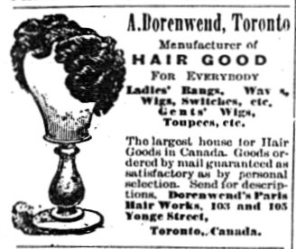 Ladies' Journal 1889 Dorenwend Hair Good
