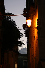 gerace particolare notturno (antonello.tommy) Tags: travel light sunset shadow sky italy alberi clouds italia tramonto nuvole streetlamp sony bynight ombre cielo luci colori rc calabria notte lampione sera notturno gerace