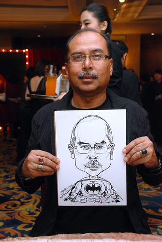 Caricature live sketching for Temasek Holdings D&D 2008 Hero Night 1