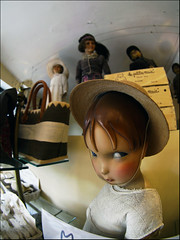 Day of the living dolls (Sator Arepo) Tags: leica eye hat shop reflex doll dolls fisheye zuiko carcassonne digilux georgeromero serieb digilux3 8mmed zd8mmfish35 familygetty2011 retofez110614
