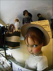 Day of the living dolls (Sator Arepo) Tags: leica eye hat shop reflex doll dolls fisheye zuiko carcassonne digilux georgeromero serieb digilux3 8mmed zd8mmfish35 familygetty2011 retofez110614