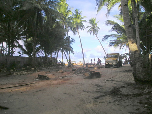 Wanton destruction at Cloud 9, Siargao Island, Philippines